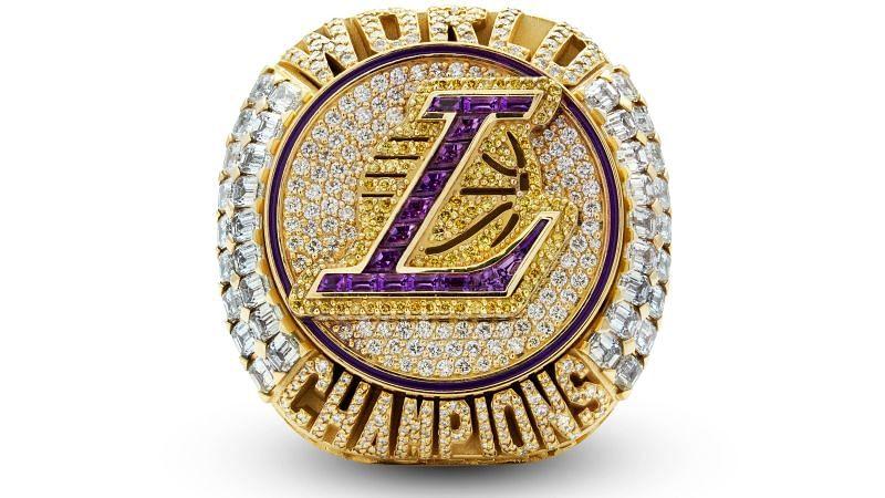 lakers 2019-20 championship ring