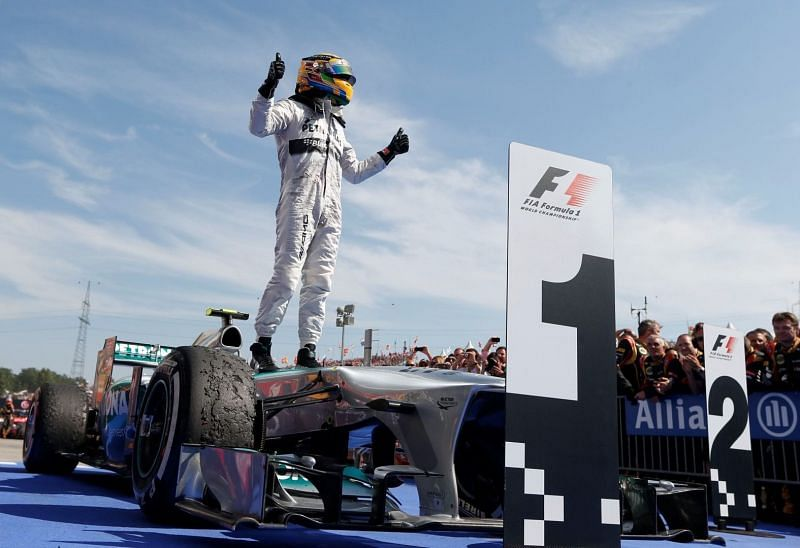 Lewis Hamilton won his first race with Mercedes at the Hungaroring in 2013.