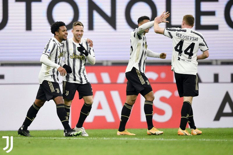 Juventus defeated AC Milan 3-1 at the San Siro