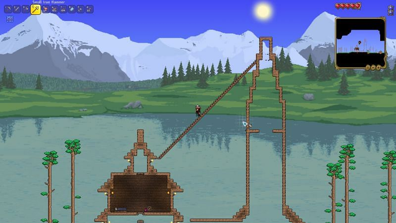 How to make stairs in terraria Step 5