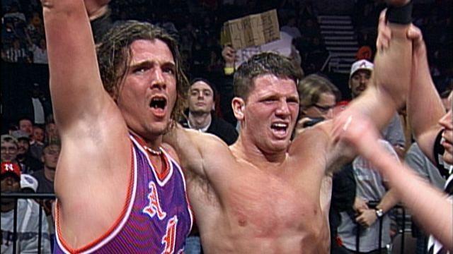 AJ Styles (R) in WCW