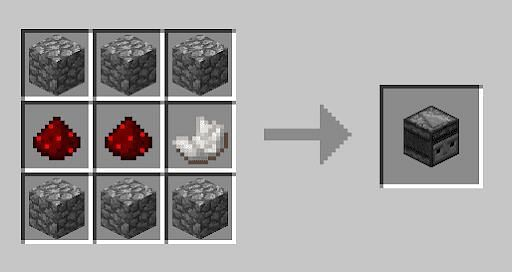 Crafting an observer in Minecraft