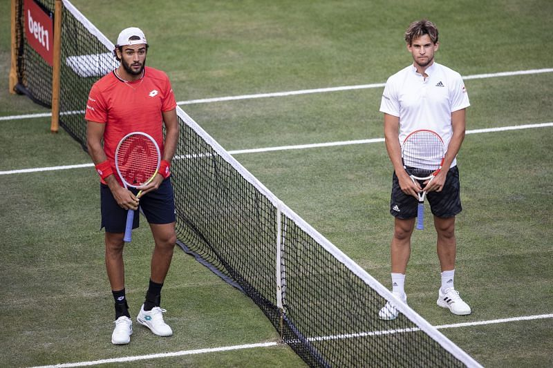 Matteo Berrettini and Dominic Thiem face each other at the ATP Cup
