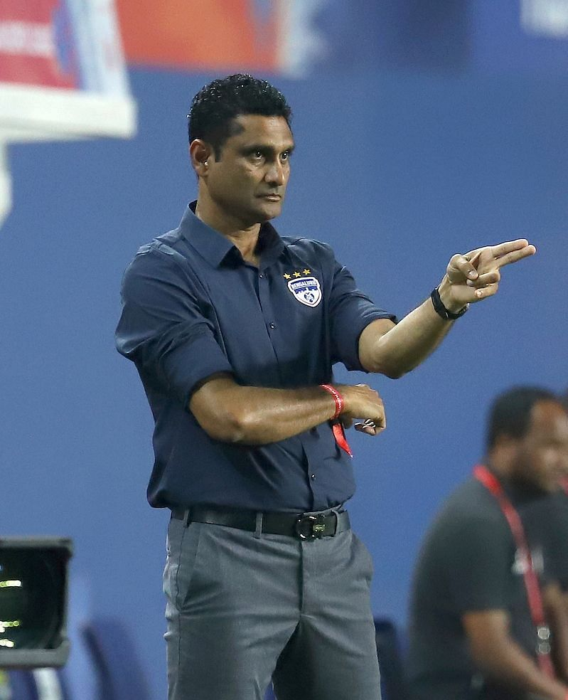 BFC interim coach Naushad Moosa believes that his side still have a chance to finish in the playoffs (Image Courtesy: ISL Media)
