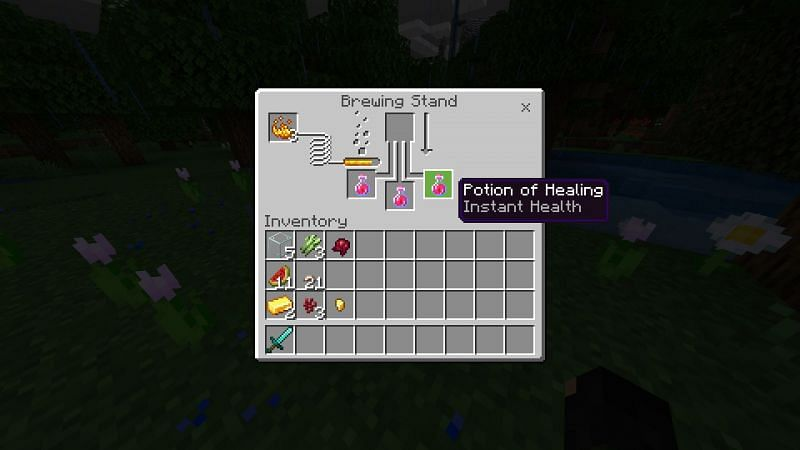 Potion of Healing in Minecraft