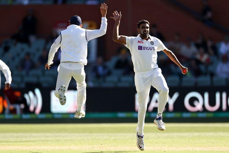 Ravichandran Ashwin celebrates a wicket.