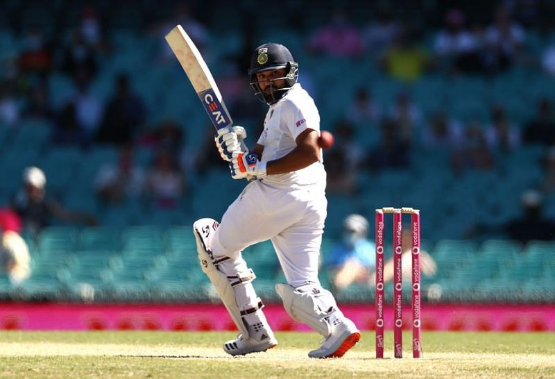 Rohit Sharma scored a 50 on Day 4