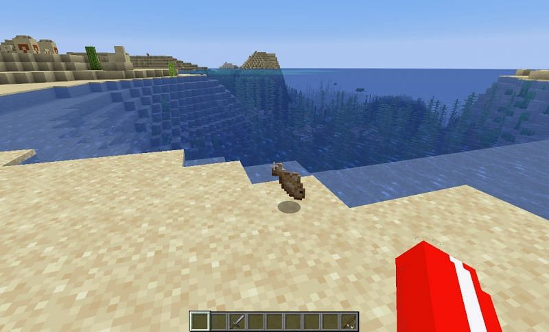 Right clicking will retract the fishing rod