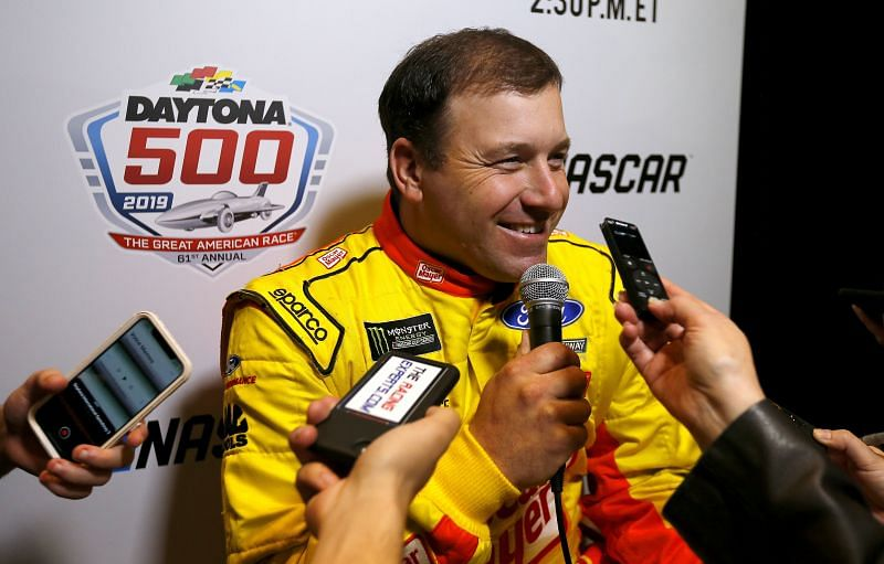 Ryan Newman speaks to the media during the Monster Energy NASCAR Cup Series 61st Annual Daytona 500 Media Day at Daytona International Speedway on February 13, 2019 in Daytona Beach, Florida. (Photo by Jonathan Ferrey/Getty Images)