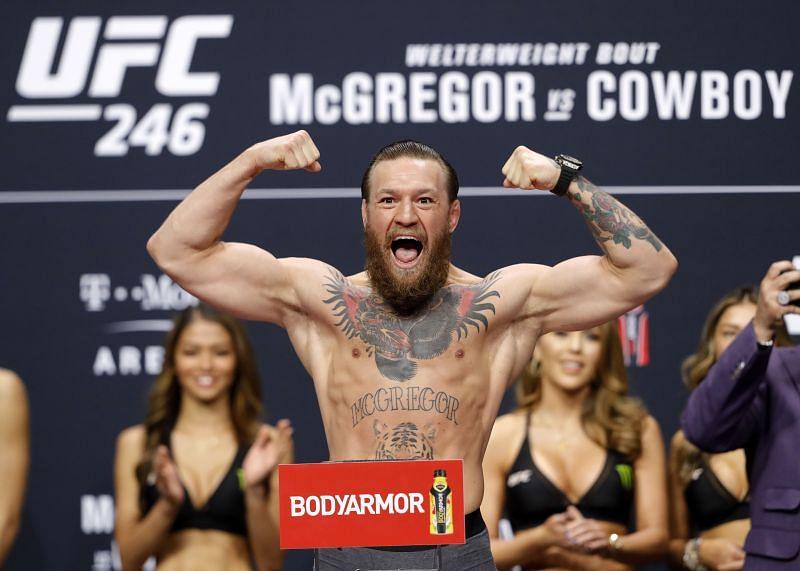 UFC 246 McGregor v Cowboy: Weigh-Ins