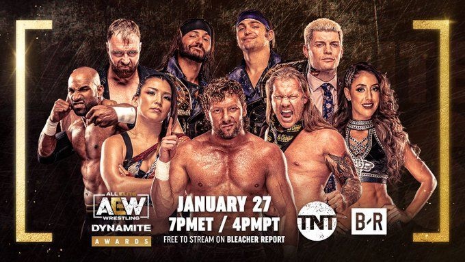 AEW and TNT set for the first-annual AEW Dynamite Awards on B/R Live.