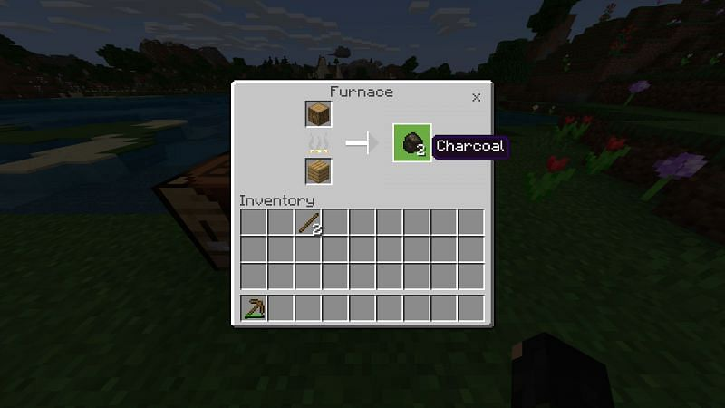 Step 4 for making charcoal in minecraft