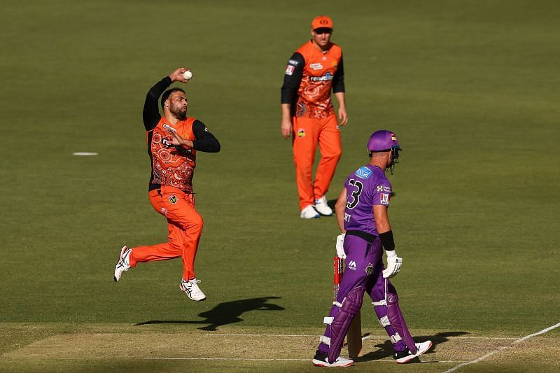 Action from the BBL game between Perth Scorchers & Hobart Hurricanes
