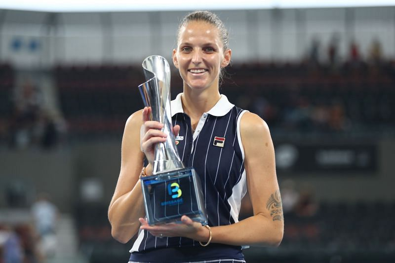 Karolina Pliskova at the 2020 Brisbane International