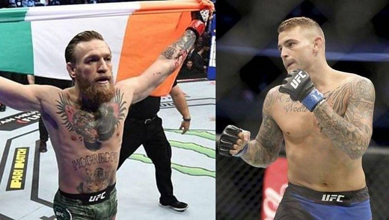Conor McGregor (left); Dustin Poirier (right)