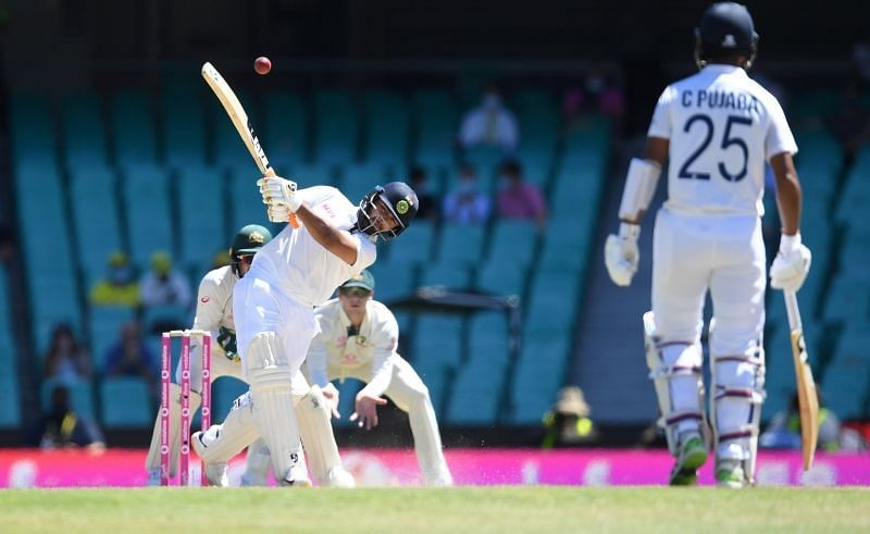 Rishabh Pant fell for 97 at the SCG. Pic: ICC/ Twitter