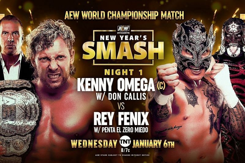 Kenny Omega will defend the AEW World Championship against Fenix