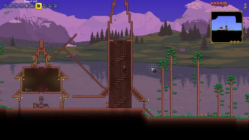 How to make stairs in terraria Step 14
