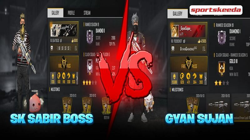 Free Fire IDs of both the YouTubers