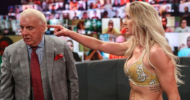 Charlotte Flair told Ric Flair to stay out of her business.