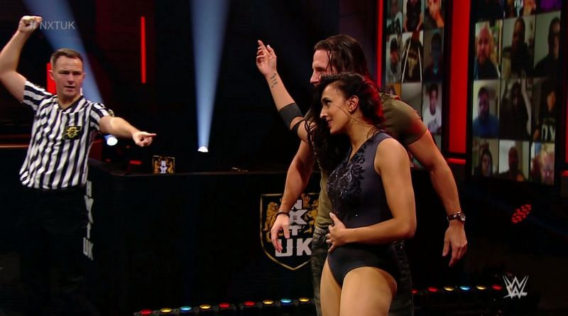 Jinny leaves the match as the new number one contender for he NXT UK Women