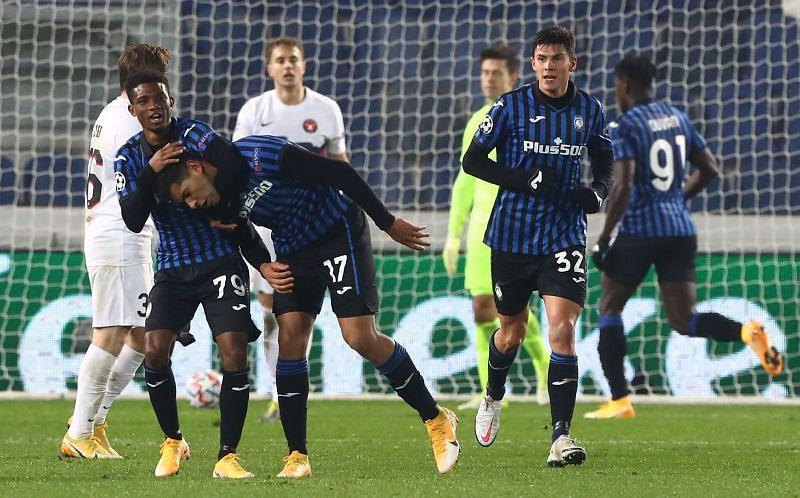 Diallo (L) in action for Atalanta
