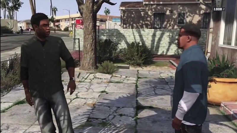 Lamar roasts Franklin (image via Rockstar Games)