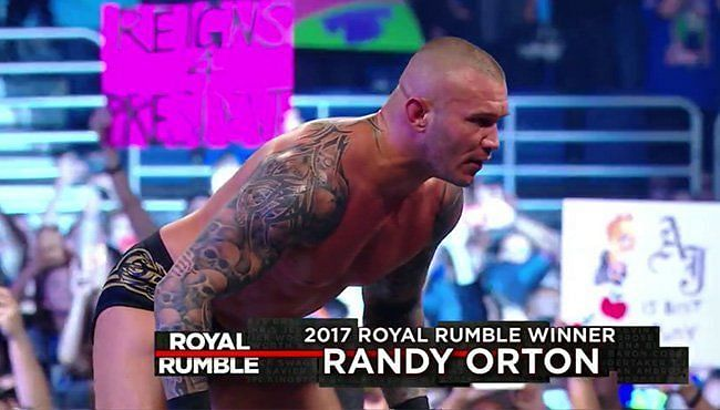 Randy Orton won the Royal Rumble four years ago.