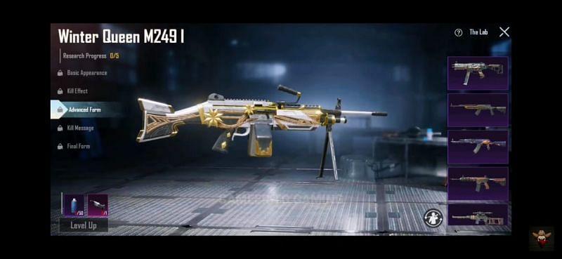 Winter Queen M249 (Image via Sameer TG Gaming/ YouTube)