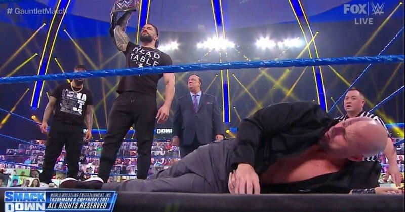 Roman Reigns stole the night today on SmackDown