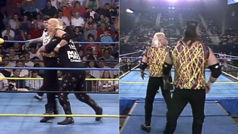 Arn Anderson watched this spot from the backstage area