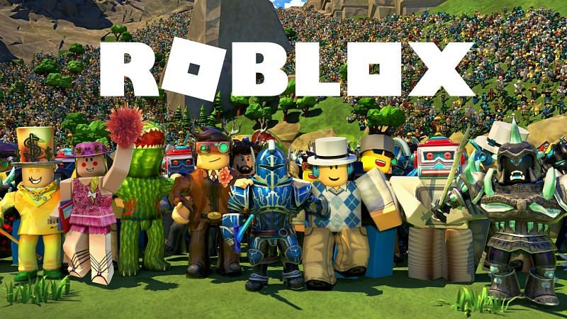 A variety of different Roblox avatars assembled together. (Image via alphacoders.com)