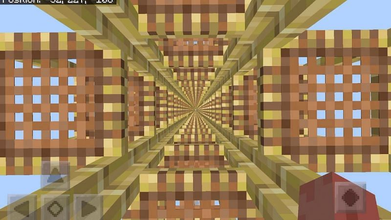 A massive creation made out of scaffolding in Minecraft. (Image via Minecraft Droppers/YouTube)