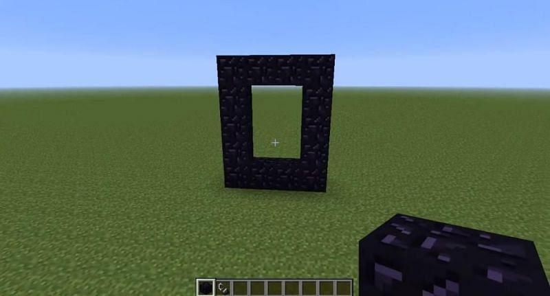 Obsidian Frame in Minecraft