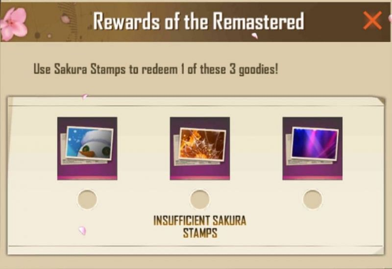 Rewards that can be collected at 40 stamps