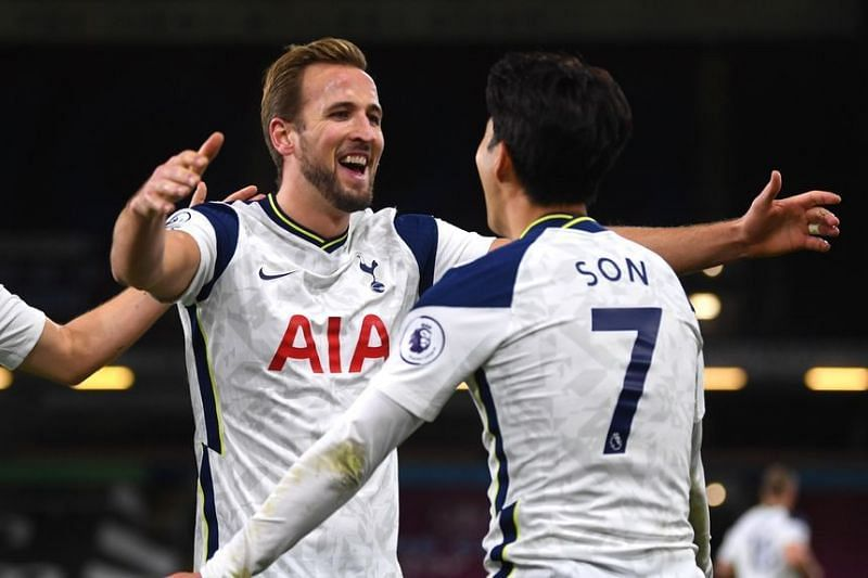 Son Heung-Min (R) will have to shoulder the goal-scoring responsibility in Harry Kane(L)