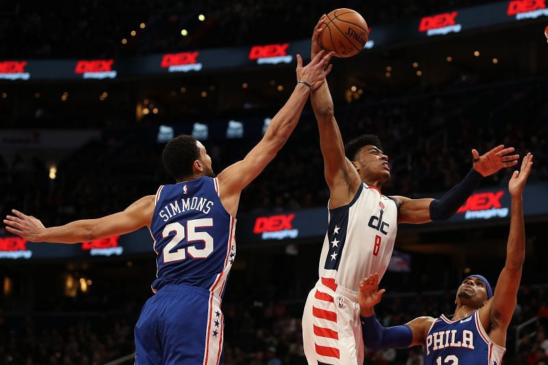 Philadelphia 76ers v Washington Wizards.
