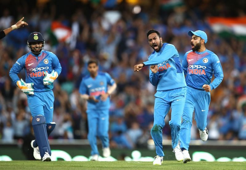 Krunal Pandya has represented the Indian cricket team in a few matches