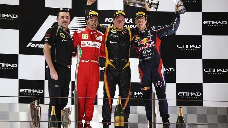 Kimi Raikkonen won the Abu Dhabi GP on his return to Formula 1 in 2012.