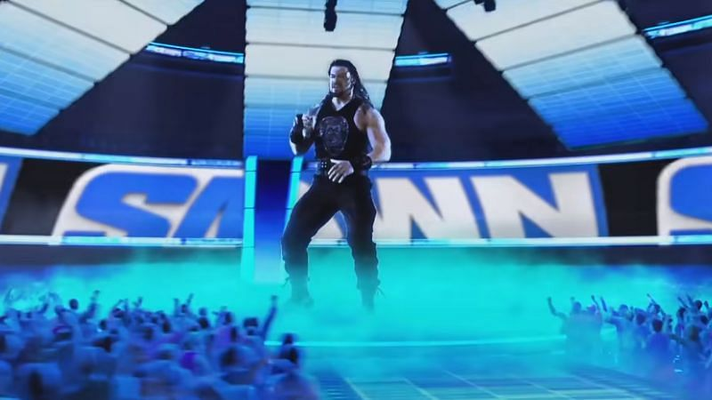 Roman Reigns features in the WWE SmackDown introduction