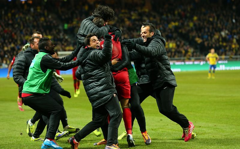 Cristiano Ronaldo scored a hat-trick to help Portugal qualify for the 2014 World Cup.