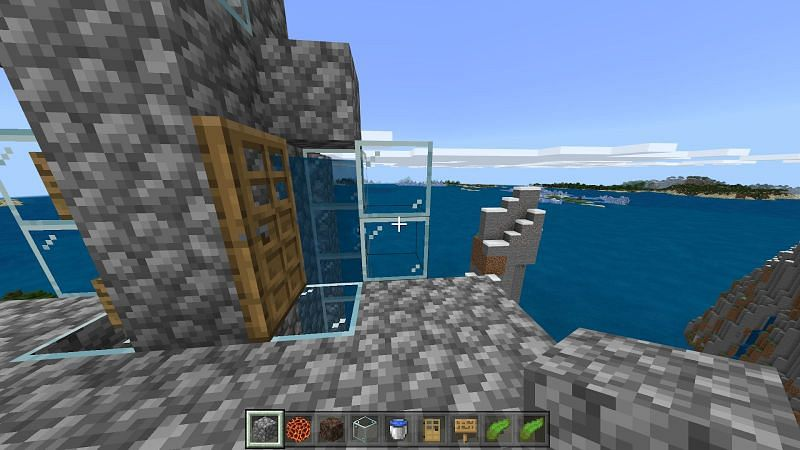 Step into a water column and watch as your character gets lifted up or down