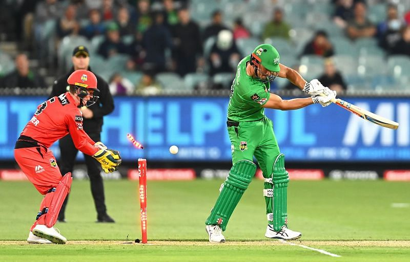 Action from the match between Melbourne Stars & Melbourne Renegades