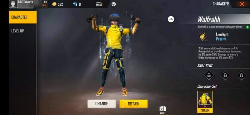 Free Fire में Wolfrahh