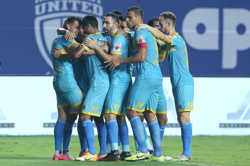 The youthful Hyderabad FC side scored four goals yet again to defeat NorthEast United FC. Courtesy: ISL