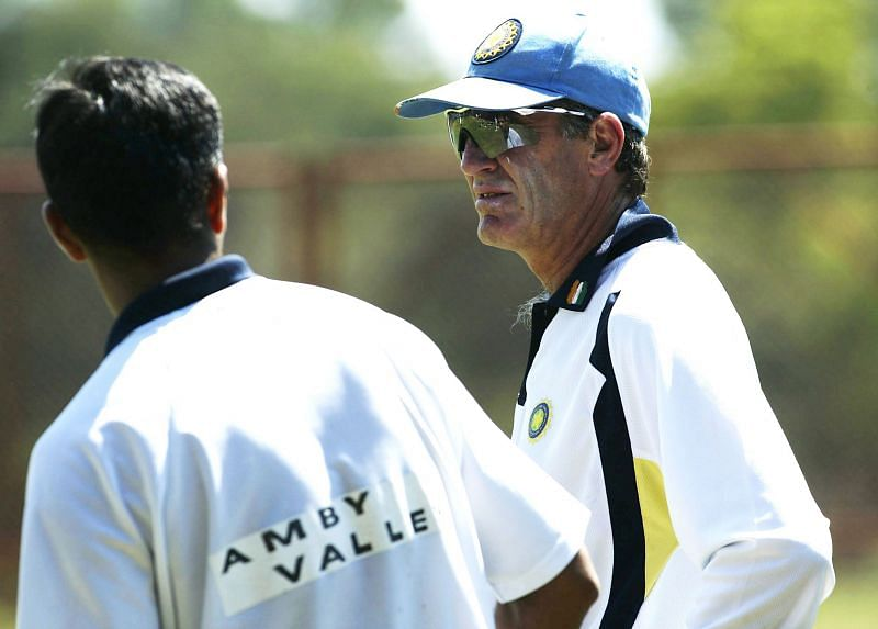 Rahul Dravid (left) was instrumental in bringing in John Wright as the Indian coach in 2000.