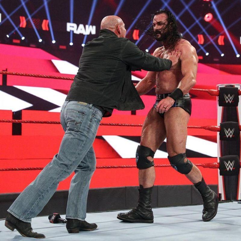 Goldberg and Drew McIntyre on WWE RAW