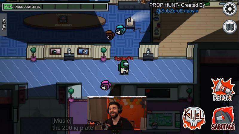 Prop Hunt in Among Us - Image via SypherPK YouTube