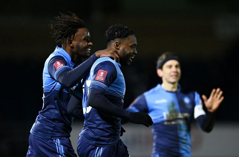 Wycombe pushed Tottenham hard tonight and deserved their first half lead