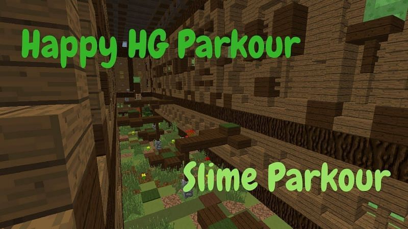 Happy HG offers a large selection of parkour maps, each with a unique theme